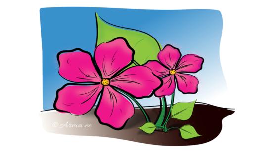 """Illustratsioon nr 1 """"Lilled"""" │© Arma.ee"""