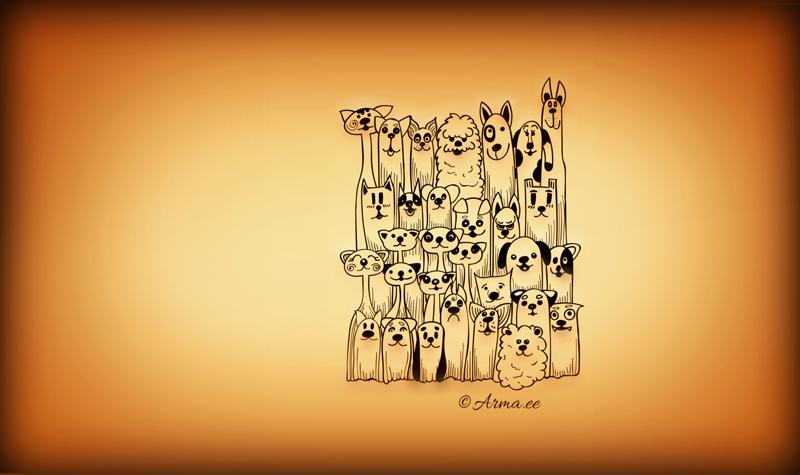 2016. aastal valminud illustratsioon: Suurlinna elu - koerad & kontvõõrad ...